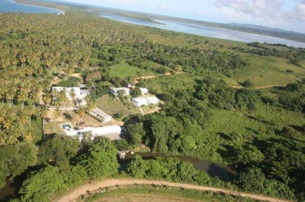 Ecotourism in the Dominican Republic - the ¨Ranco La Cueva¨ at the pristine beach Playa Limon