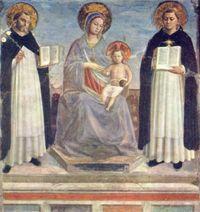 Mar�a con Santo Domingo de Guzmán y Santo Tomás de Aquino